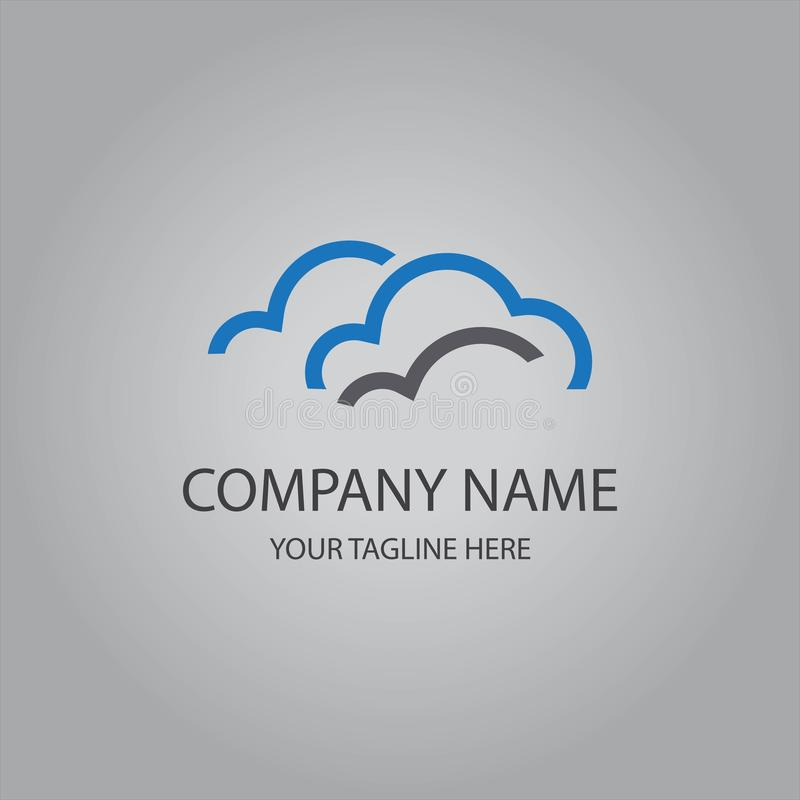 Абстрактный логотип облака иллюстрация штока
