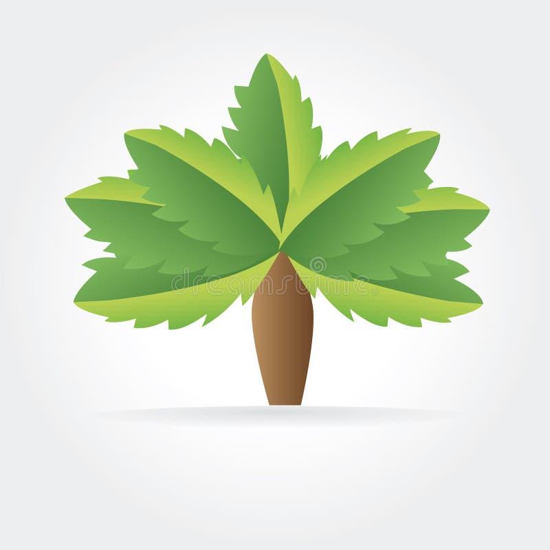 Абстрактный логотип природы вектора изолированный на белизне бесплатная иллюстрация