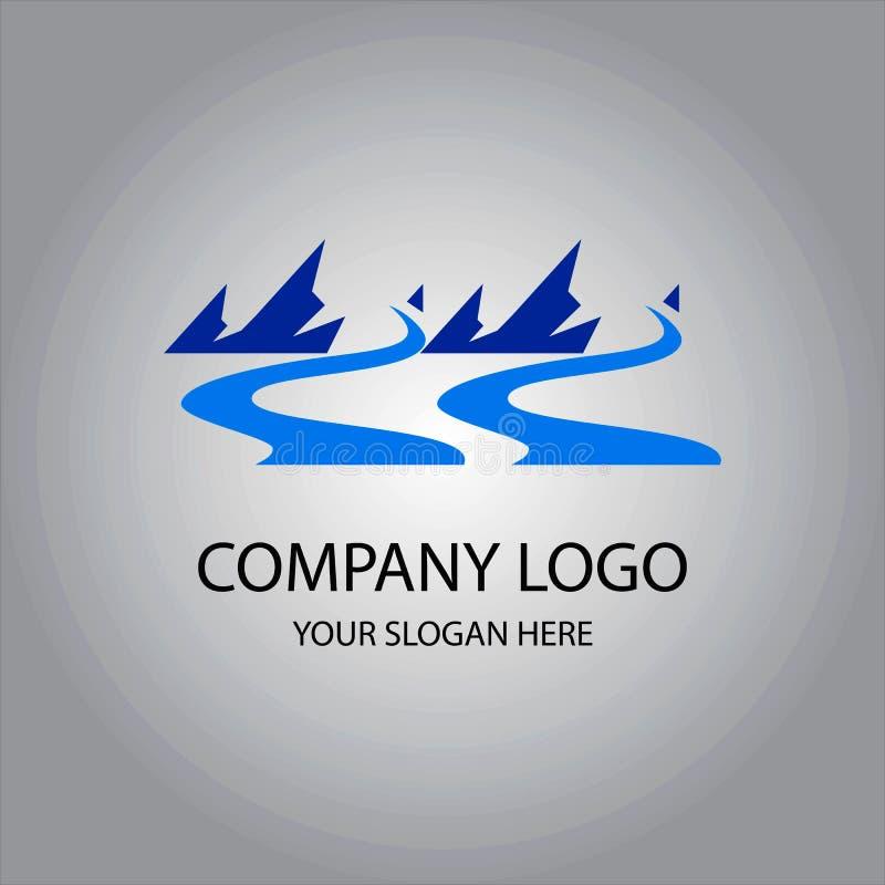 Абстрактный логотип реки иллюстрация вектора