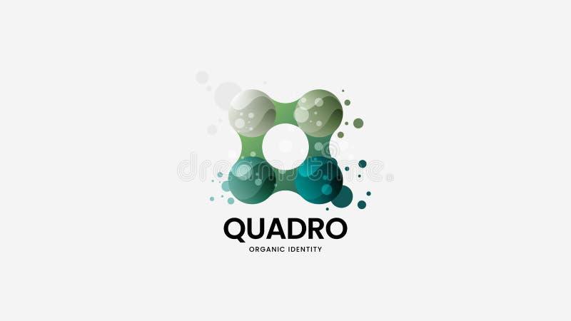Абстрактный органический знак логотипа вектора Наградная качественная иллюстрация эмблемы логотипа Изумляя план дизайна значка мо бесплатная иллюстрация