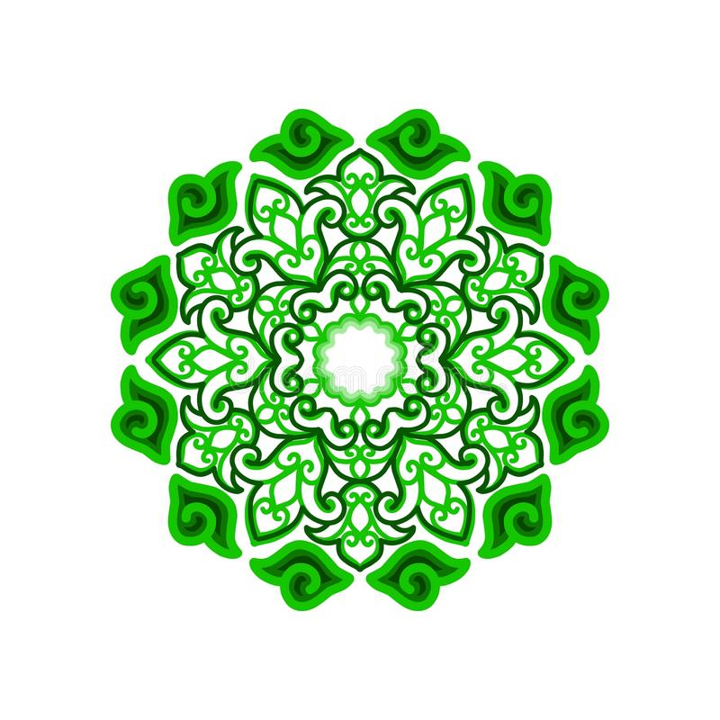 Абстрактный орнамент круга cirebonese стоковая фотография