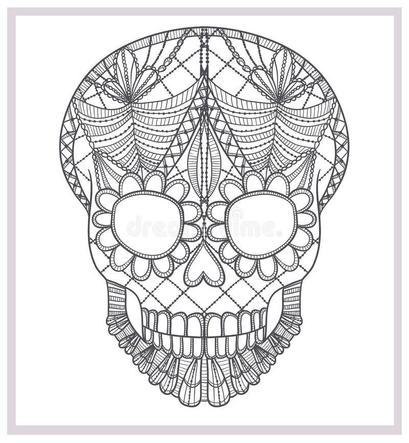 Абстрактный орнамент шнурка черепа. бесплатная иллюстрация
