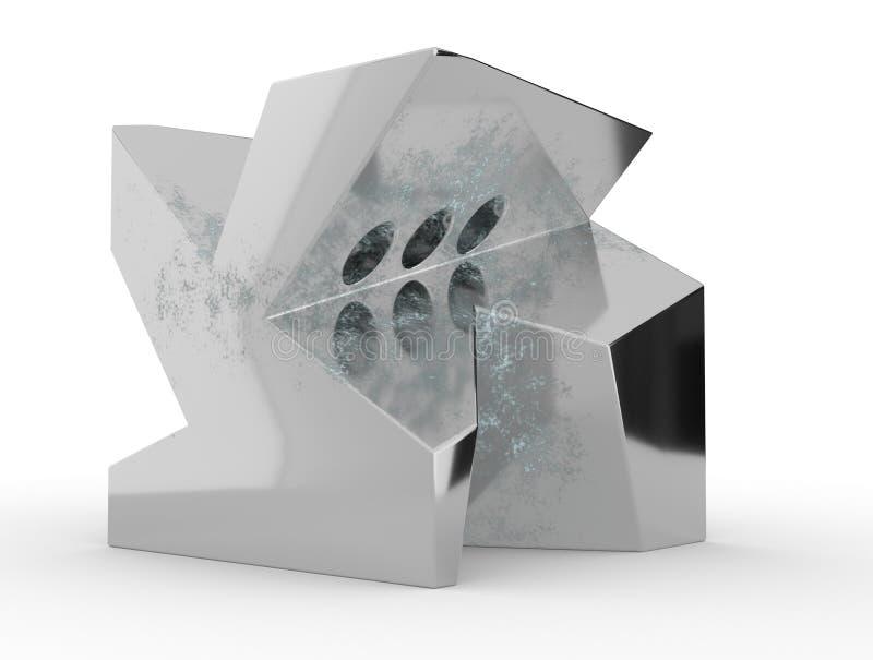 Абстрактный перевод 3d геометрической формы состав сюрреалистический иллюстрация 3d иллюстрация вектора