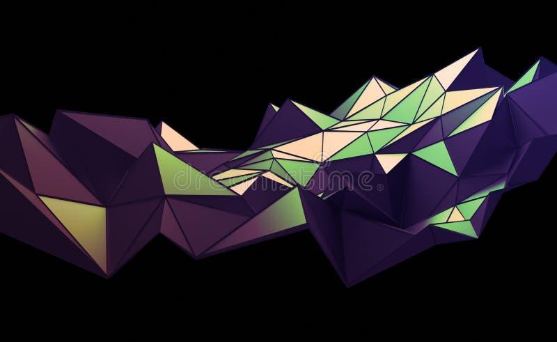 Download Абстрактный перевод 3D полигональной предпосылки Иллюстрация штока - иллюстрации насчитывающей конструкция, футуристическо: 81802700