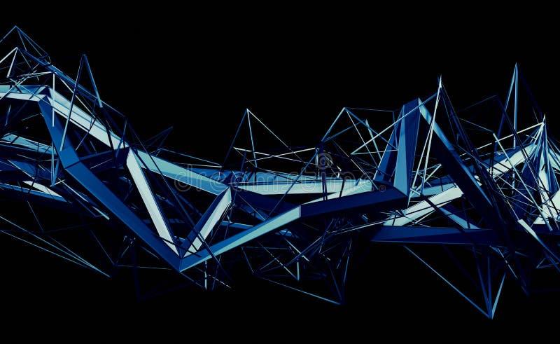 Download Абстрактный перевод 3D полигональной формы Иллюстрация штока - иллюстрации насчитывающей представьте, решетка: 81802691