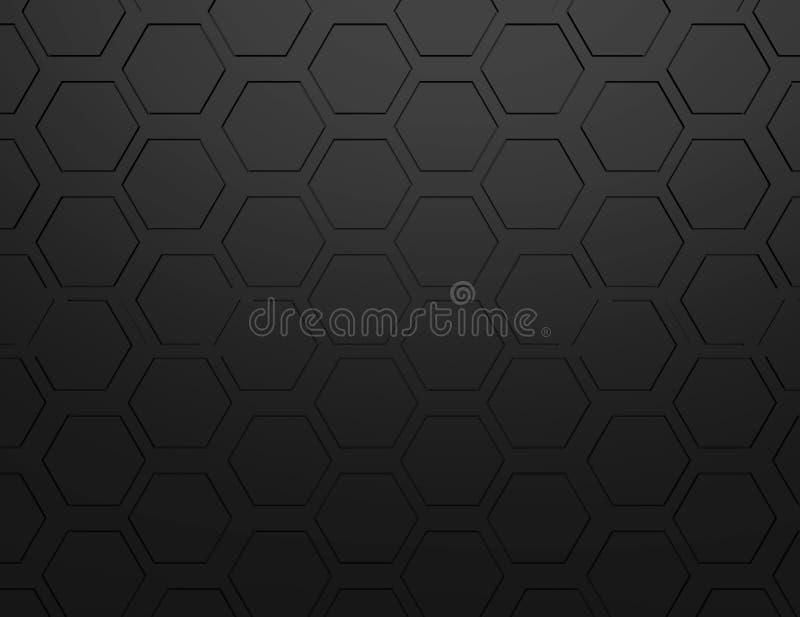 Абстрактный перевод 3d футуристической поверхности с шестиугольниками бесплатная иллюстрация