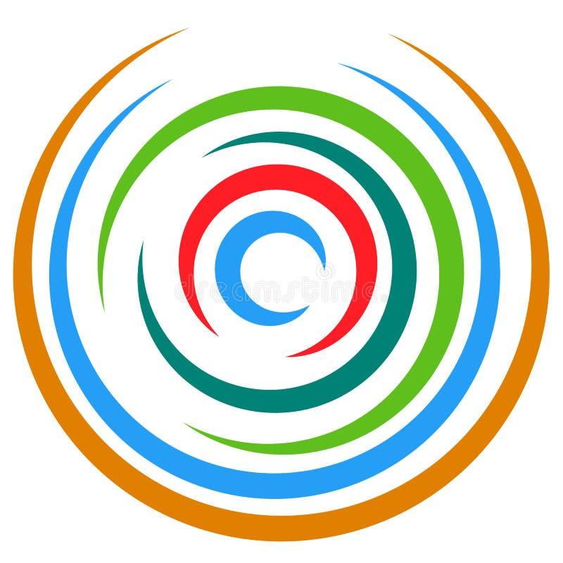 Download Абстрактный пестротканый круговой элемент Концентрические круги, кольцо Иллюстрация вектора - иллюстрации насчитывающей концентрическо, разносторонне: 81814532
