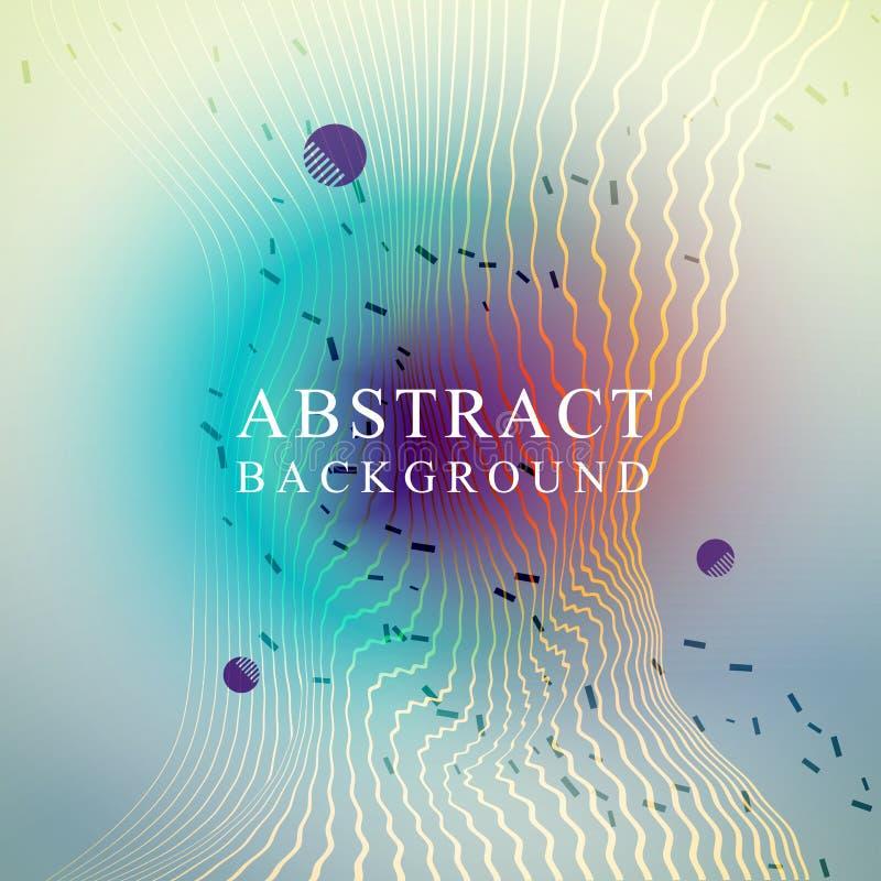 Абстрактный плакат с жидкостными пузырями иллюстрация вектора