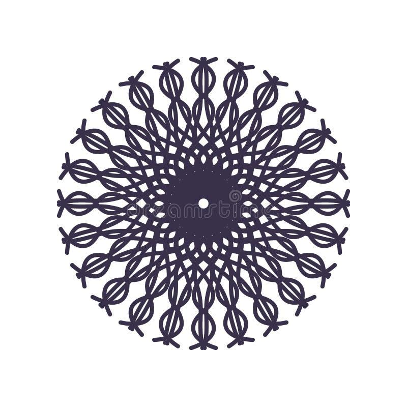 Абстрактный план геометрии мандалы для украшения или татуировки иллюстрация вектора