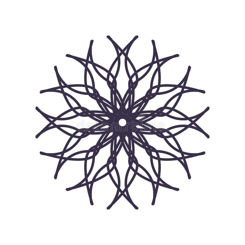 Абстрактный план геометрии мандалы для украшения или татуировки бесплатная иллюстрация