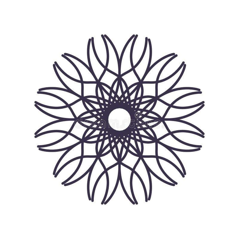 Абстрактный план геометрии мандалы для украшения или татуировки иллюстрация штока