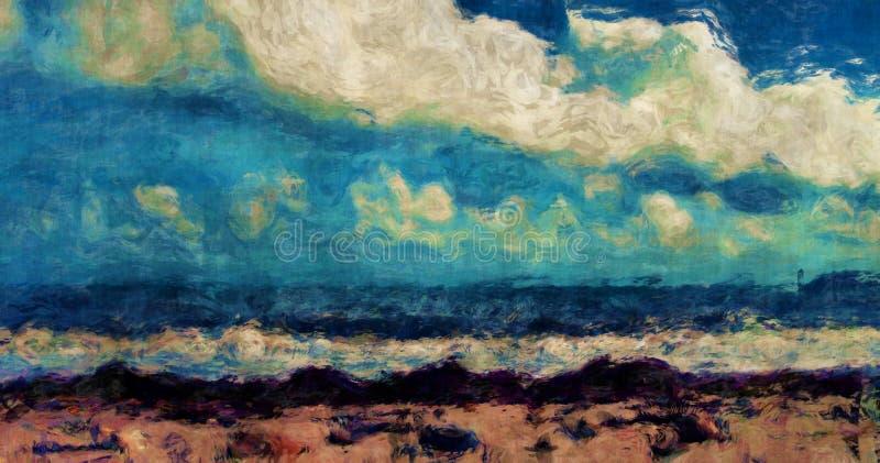 абстрактный пляж иллюстрация штока