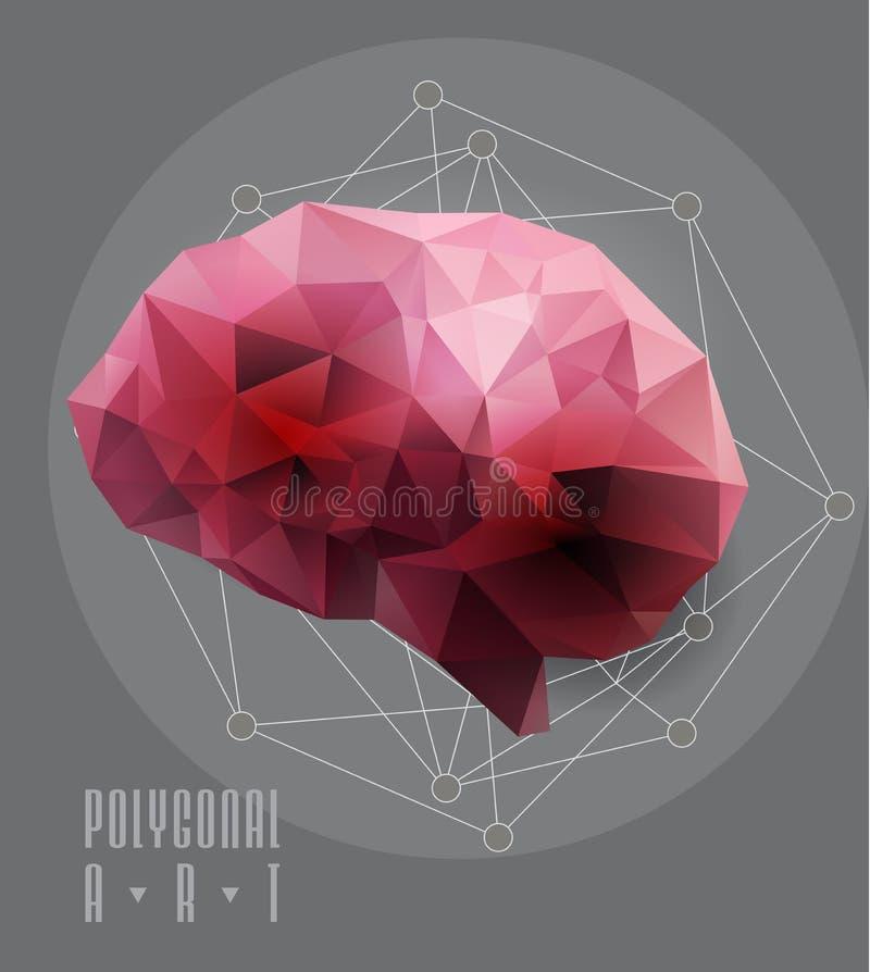 Абстрактный полигональный мозг бесплатная иллюстрация