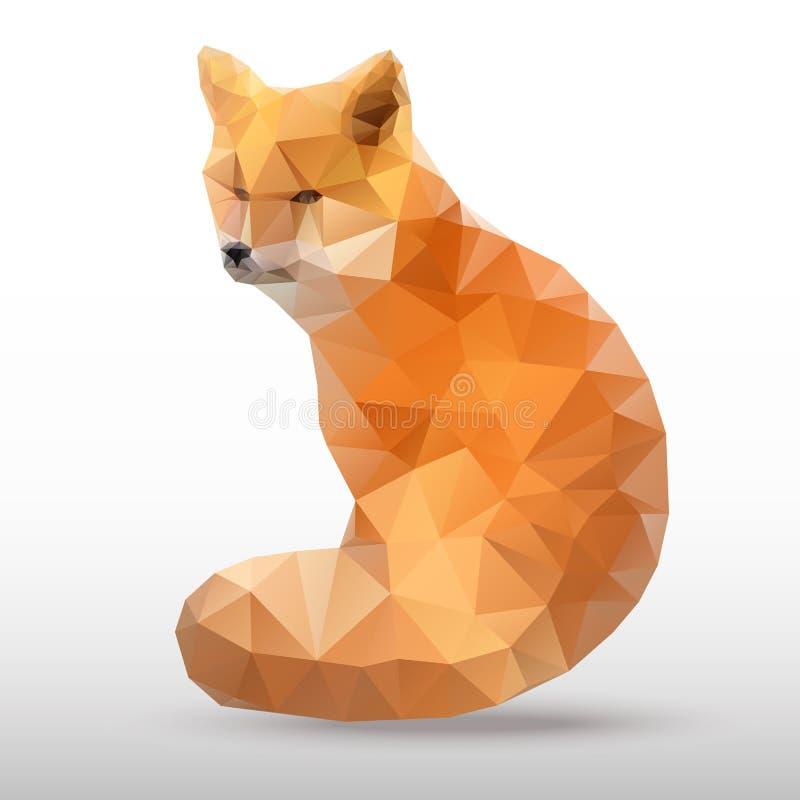 Абстрактный полигональный Fox бесплатная иллюстрация