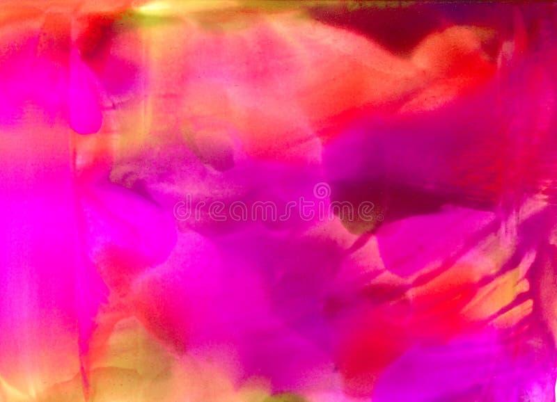 Абстрактный приглаживайте покрашенные красный цвет и пинк иллюстрация штока