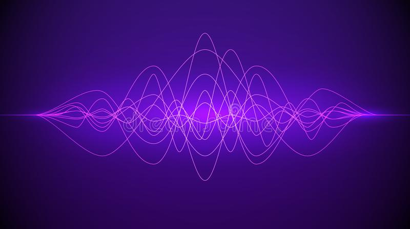 Звуковая война Абстрактный пурпурный пропускать динамики света цвета Предпосылка музыки или технологии r бесплатная иллюстрация
