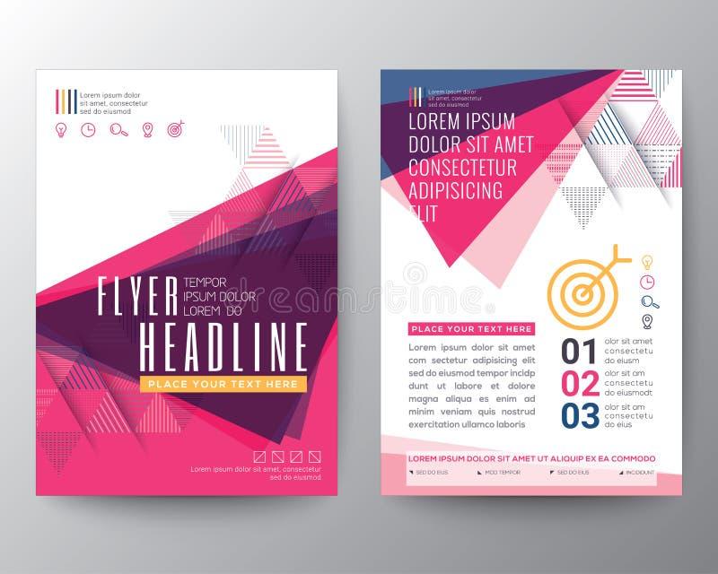 Абстрактный план дизайна рогульки брошюры плаката формы треугольника бесплатная иллюстрация