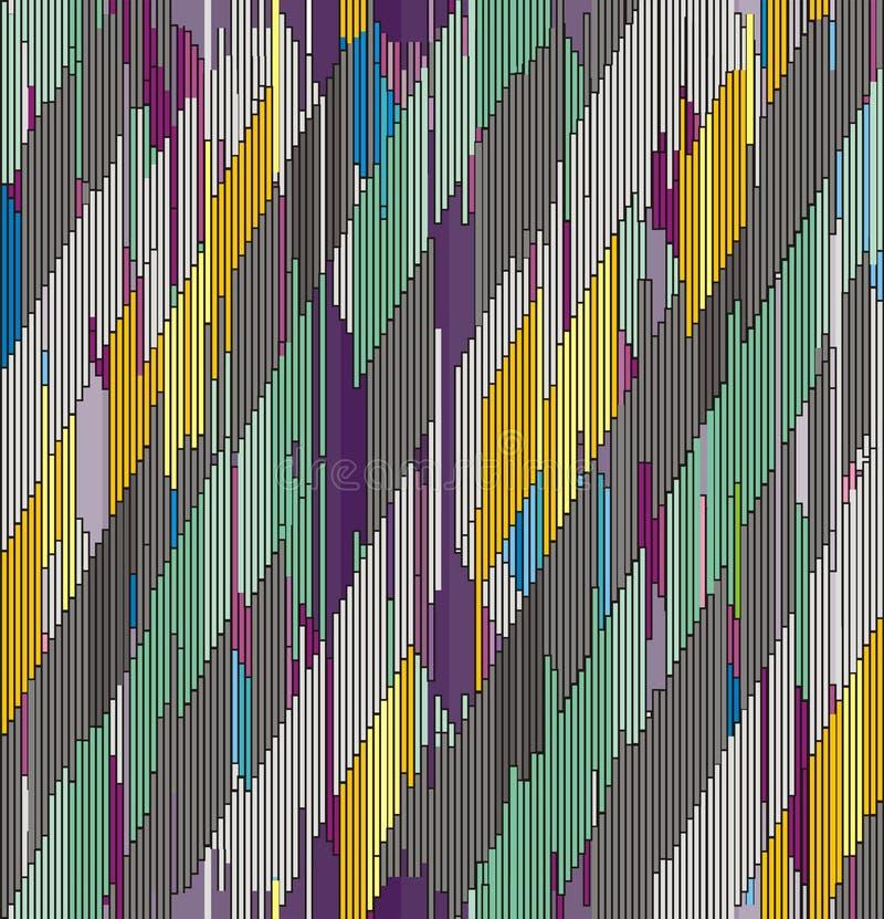 Абстрактный раскосный орнамент ходов иллюстрация вектора