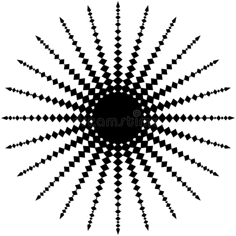 Download Абстрактный радиальный элемент на белизне геометрическая форма Иллюстрация вектора - иллюстрации насчитывающей геометрия, радиация: 81803304