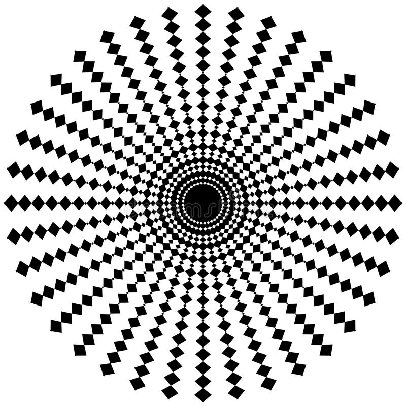 Download Абстрактный радиальный элемент на белизне геометрическая форма Иллюстрация вектора - иллюстрации насчитывающей радиус, monochrome: 81803315