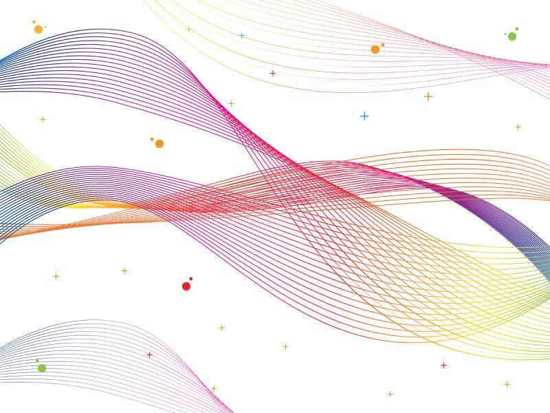 Абстрактный ровный вектор волны цвета Иллюстрация движения подачи кривой красочная иллюстрация штока