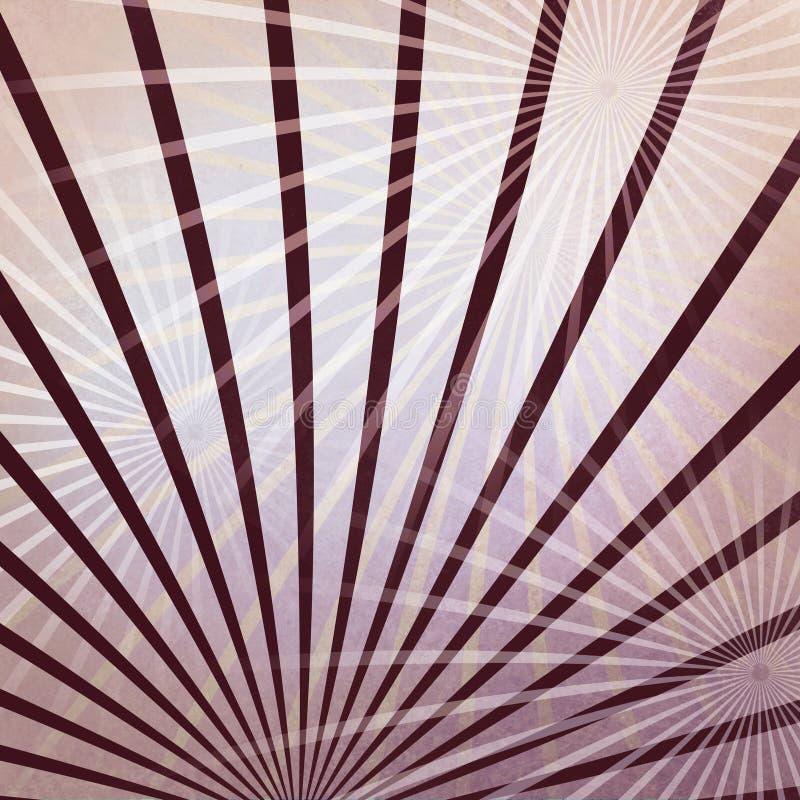Абстрактный розовый белый и фиолетовый дизайн предпосылки starbursts или элементов дизайна sunburst в случайной картине, штрафе s иллюстрация вектора