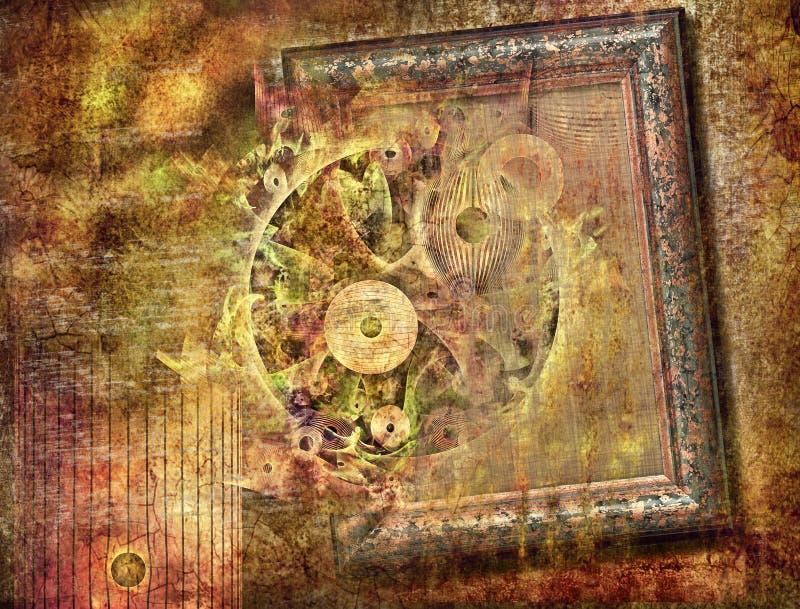 абстрактный сбор винограда картины фантазии предпосылки стоковое фото