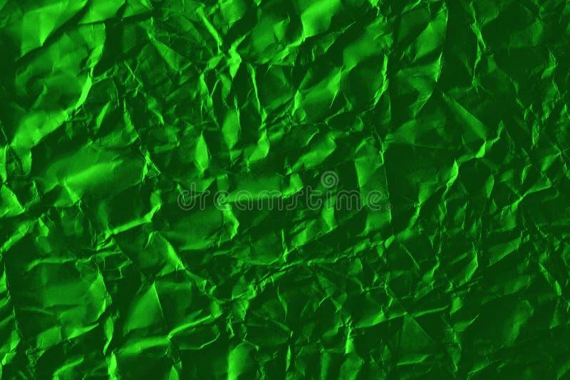 Абстрактный светло-зеленый фон измельченной бумаги стоковые изображения rf