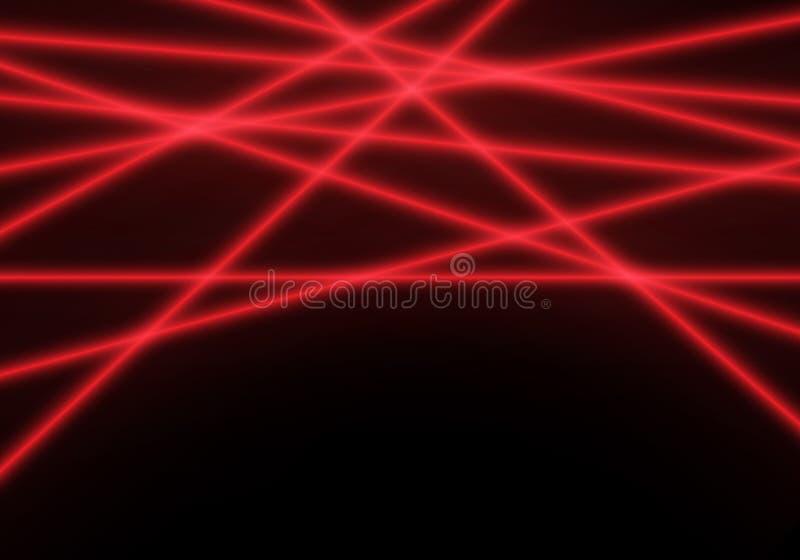 Абстрактный световой луч лазерного луча красной линии на черном векторе предпосылки технологии иллюстрация штока