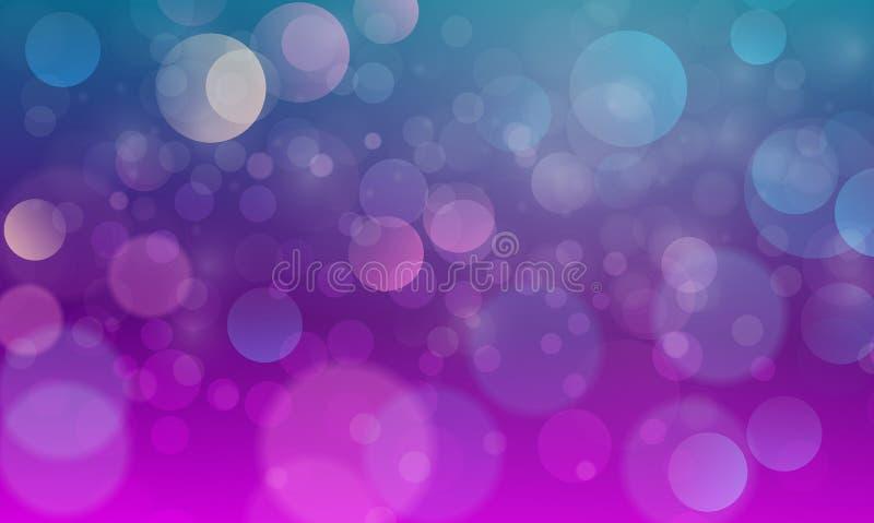 Абстрактный световой эффект bokeh с зеленой пурпурной предпосылкой, текстурой bokeh, предпосылкой bokeh, иллюстрацией вектора иллюстрация вектора