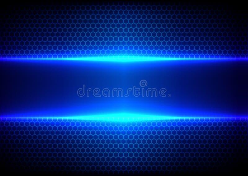 Абстрактный свет наговора - голубая технология сини влияния иллюстрация штока
