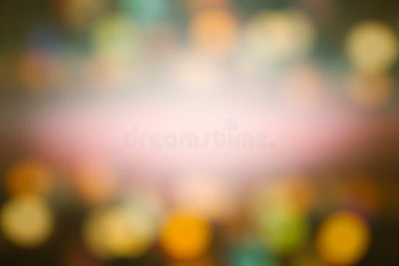 Абстрактный свет Bokeh ночи, запачканная предпосылка стоковое фото