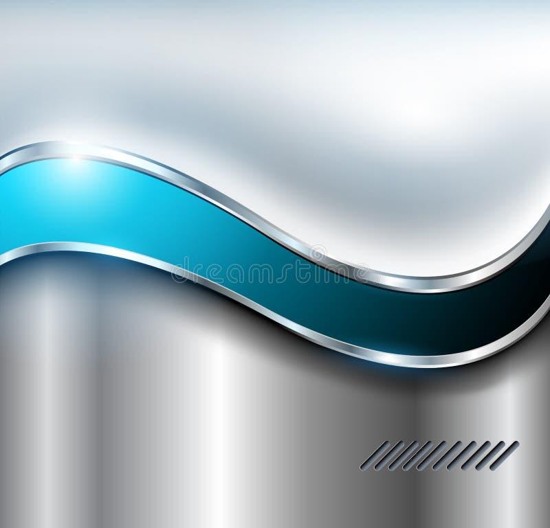 абстрактный серебр предпосылки иллюстрация вектора