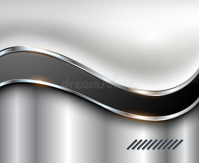 абстрактный серебр предпосылки иллюстрация штока