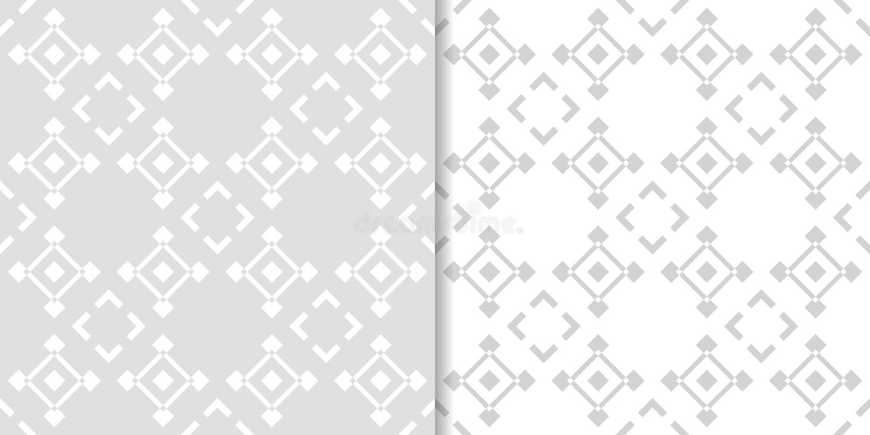 Абстрактный серый безшовный комплект картины геометрическая форма бесплатная иллюстрация