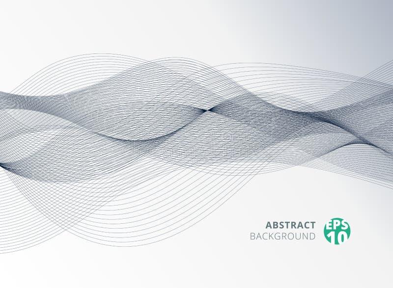 Абстрактный серый элемент волны цветного барьера для предпосылки дизайна иллюстрация штока