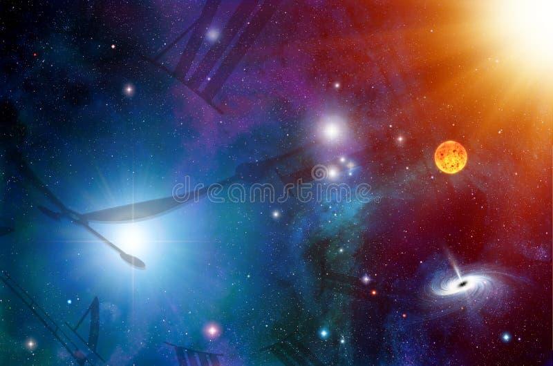 абстрактный сетноой-аналогов быть временем космоса тени половинной иллюстрации часов большим иллюстрация штока