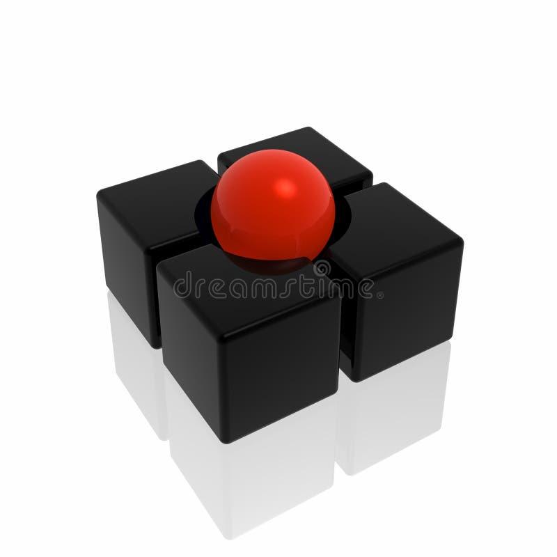 Download абстрактный символ иллюстрация штока. иллюстрации насчитывающей красно - 6856424
