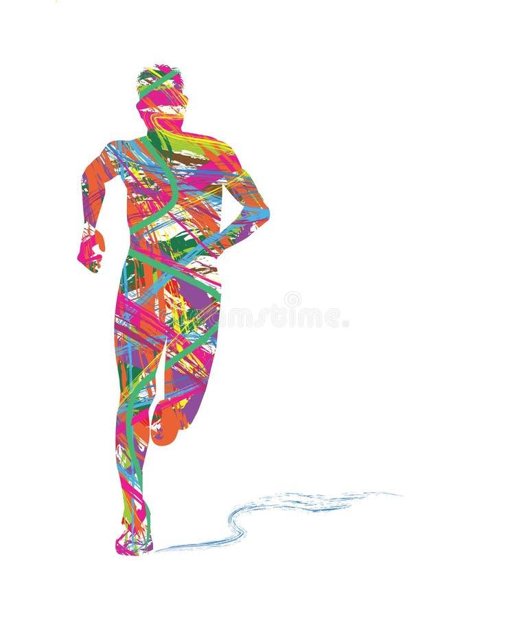 Абстрактный силуэт хода человека иллюстрация штока