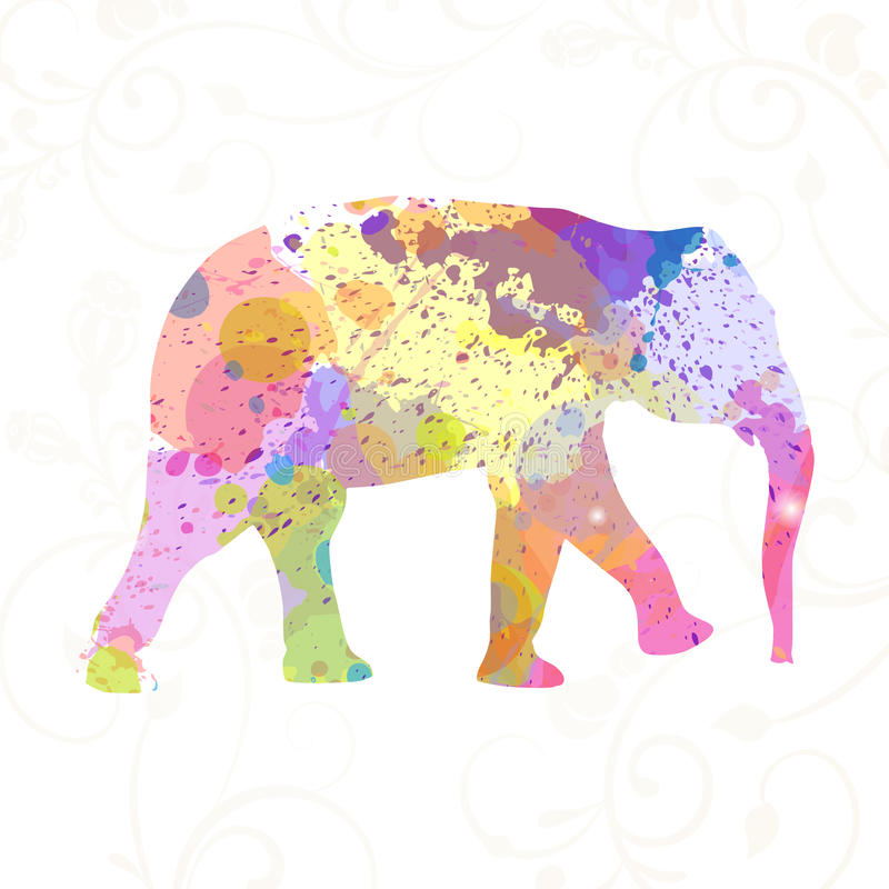 Абстрактный слон иллюстрация вектора