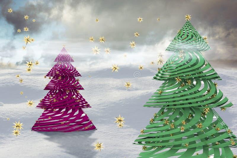 Абстрактный состав рождества бесплатная иллюстрация