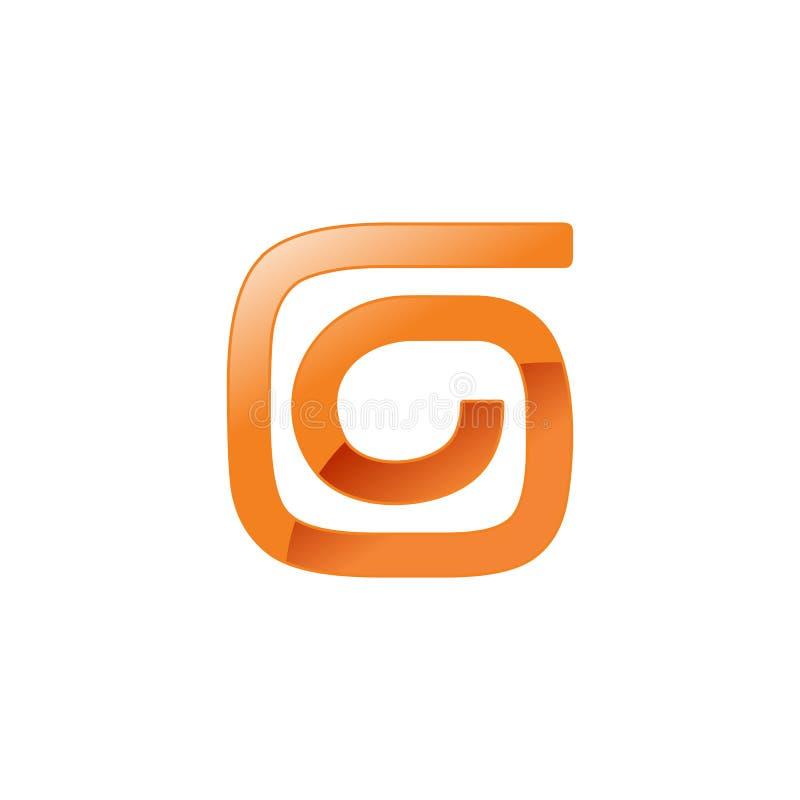 Абстрактный спиральный дизайн символа формы g циркуляра стоковое фото rf