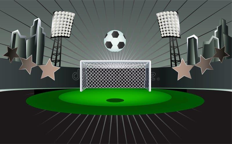 абстрактный стадион футбола иллюстрация вектора