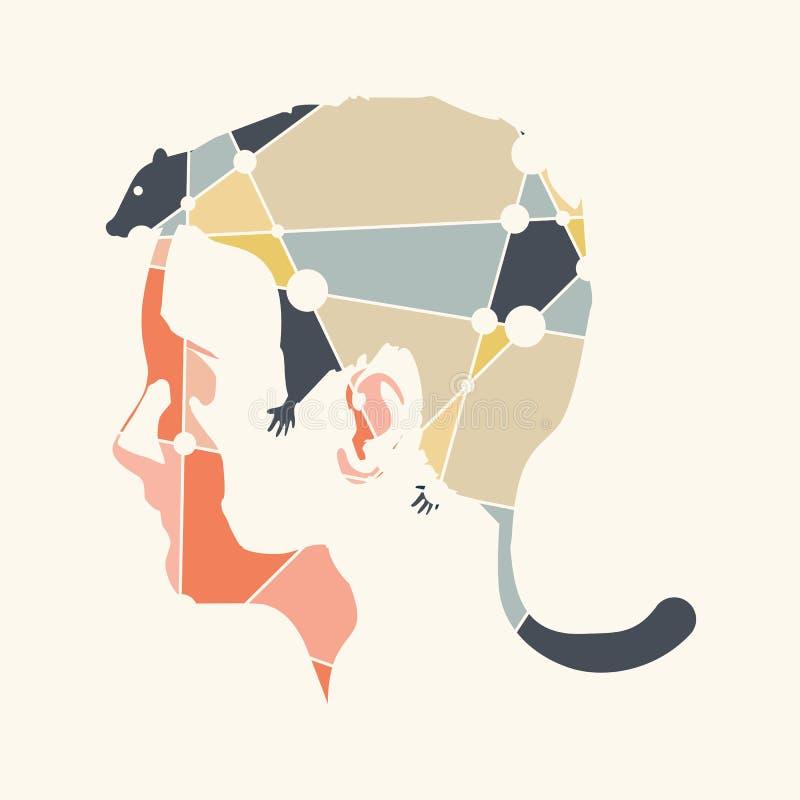 Абстрактный стиль причёсок девушки иллюстрация вектора