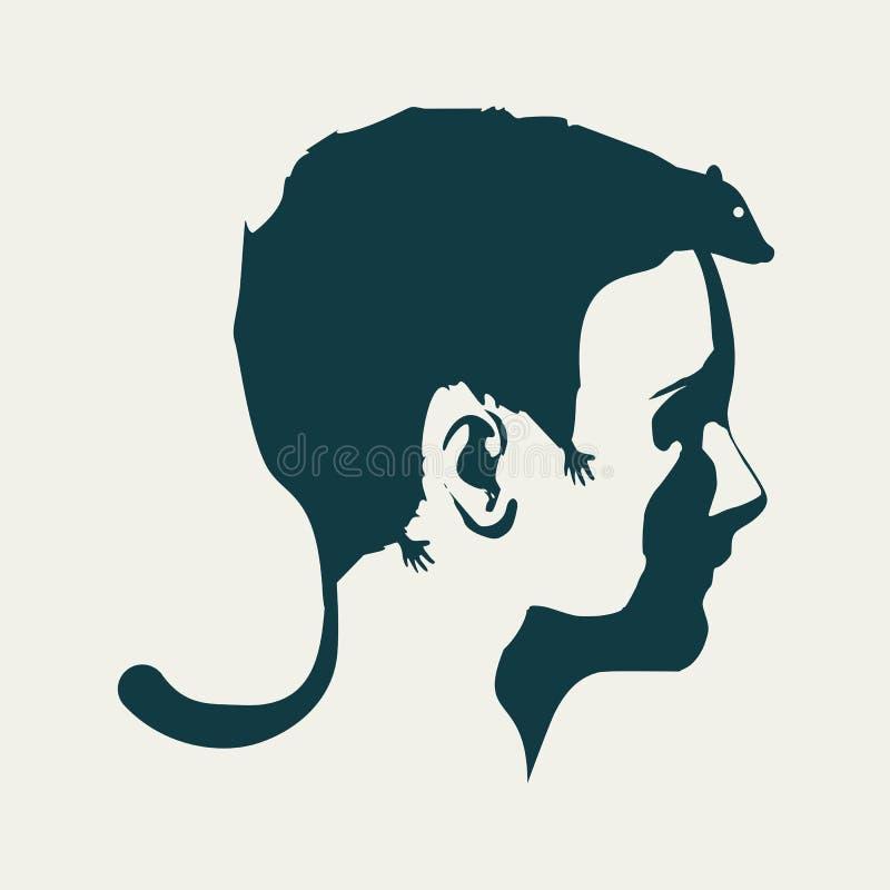 Абстрактный стиль причёсок девушки иллюстрация штока