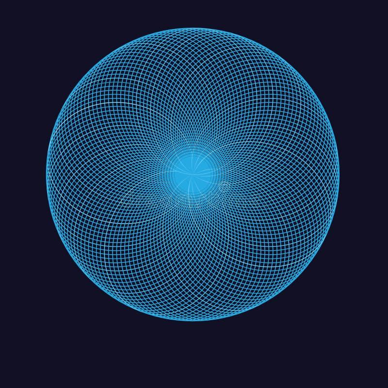 Абстрактный сферически объект иллюстрация вектора