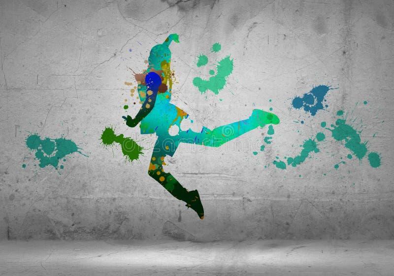 абстрактный танцор стоковая фотография rf