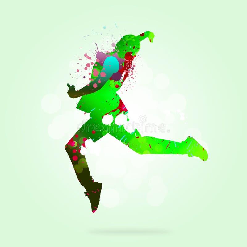 абстрактный танцор стоковое изображение rf