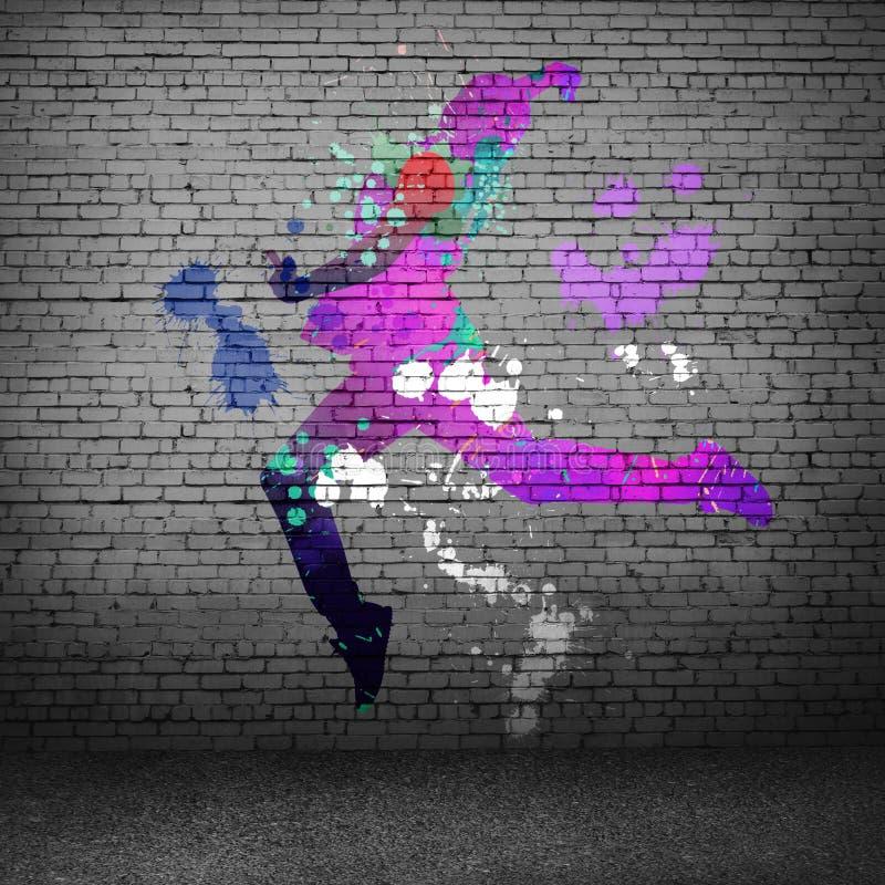 абстрактный танцор стоковые изображения
