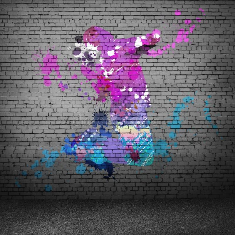 абстрактный танцор стоковое изображение